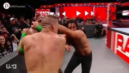 WWE狂人大力士黑羊被暴揍, 2打1, 出手还那么狠!