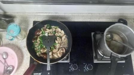舌尖上的中国 肉丝香菇炒青菜的做法视频