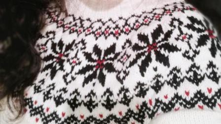 织一片慢生活  牛奶棉提花套头毛衣编织教程 上集