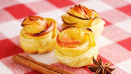 焦糖苹果蛋糕, 口感松软香甜低热量, 味香浓口感丰富, 适合新手!