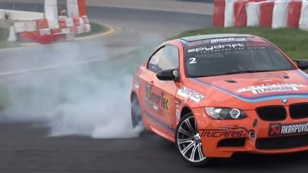 汽车漂移比赛-宝马M3,天际线R34,赛车比赛现场,跑车越野车比赛