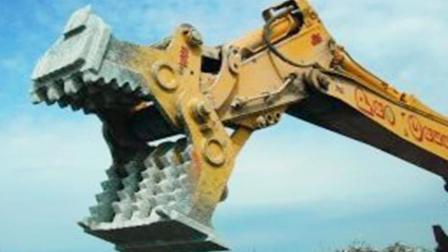 这个机械个子大, 还能转换不同用途, 开山拆楼都能干!