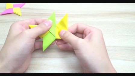 儿童趣味手工折纸: 男孩子的最爱, 纸飞镖的折法教程