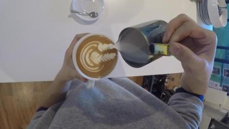 用GoPro拍摄咖啡师, 制作咖啡拉花全过程