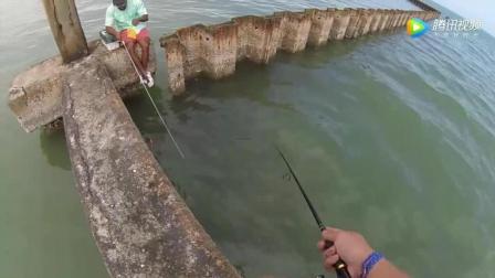 钓鱼: 很少有人来这里钓鱼, 试钓了一会, 吃口太猛了