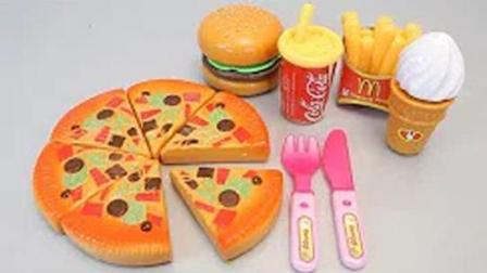 变形警车珀利和汽车总动员玩水果切切冰淇淋比萨饼惊喜蛋玩具