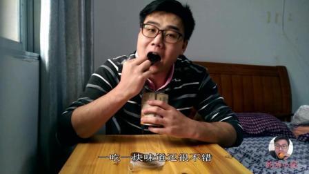 试吃花生口味夹心海苔, 一口香一口脆, 又鲜又甜真好吃!