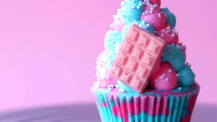 好看的彩色甜品, 彩色奶油蛋糕杯了解一下!