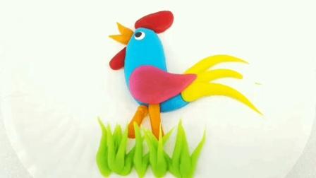 大公鸡   捏面人视频 面塑视频