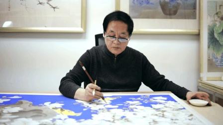 工笔重彩花鸟画除了高超技艺 还有神秘的矿物颜料 艺视中国梁志超