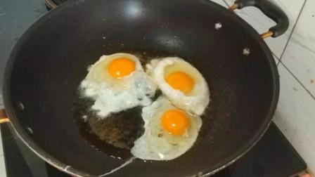 美食食谱: 教你在家做煎蛋! 放一点水、做法简单又美味!