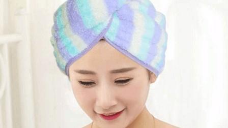 用毛巾教你叠浴帽, 很多人见过但不知道怎么做, 方法其实很简单