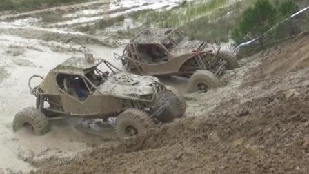 这才是真正的越野车, 在烂泥地上演速度与激情, 驾驶员都成了泥人