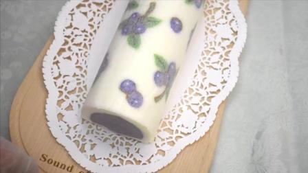 如果制作彩绘蓝莓蛋糕卷02