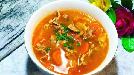 自己在家做营养开胃的罗宋汤, 料多实在, 比饭店的好吃多了