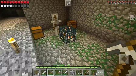 我的世界沙漠小村庄 矿洞夺宝却被骷髅射杀
