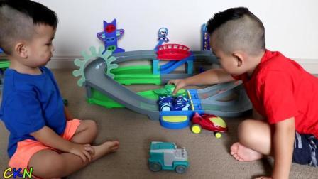 超酷的小小蒙面侠环形轨道赛车玩具!