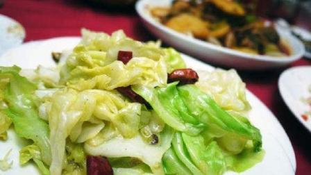 炝炒圆白菜的做法, 做法简单, 美味开胃, 不会做饭也可以学会!