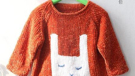 毛儿手作可爱兔子套头毛衣毛线编织教程各种编法