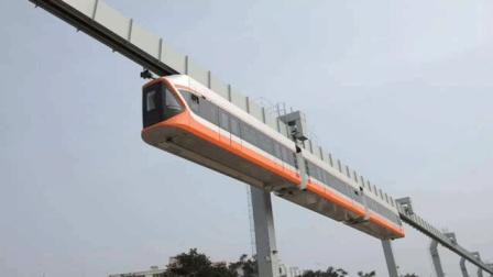 中国最高速悬挂式空中列车, 一次能做510人, 中国拥堵有望解决?