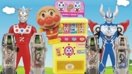 捷德奥特曼买面包超人惊喜盒食玩, 奥特胶囊奇趣蛋玩具, 雷欧奥特曼