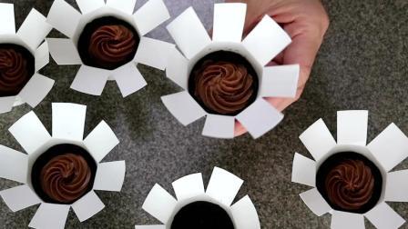 小巧下午茶点, 没有烤箱就能做, 生巧克力迷你蛋糕