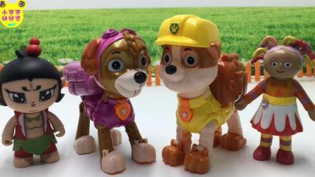 动漫卡通亲子玩具 2017 花园宝宝和葫芦娃玩狗狗巡逻队动漫卡通玩具 58
