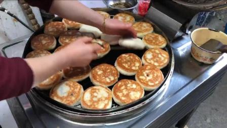 美食: 苏州昆山十大美食用酒酿面粉发酵馅用玫瑰豆沙酒酿饼超好吃