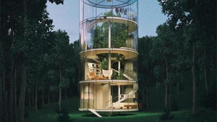 把树装进玻璃房子里, 体验原生态生活, 网友: 不怕虫子?