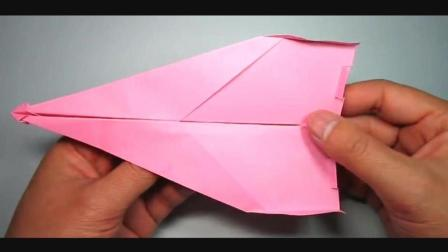 儿童趣味手工折纸: 一款拥有吉尼斯滞空纪录的纸飞机折法
