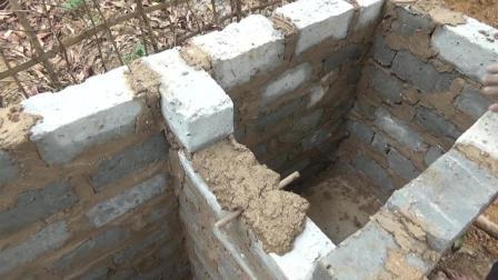 【东南亚小哥全集】原始技术33: 建造水净化系统和蓄水池(2)