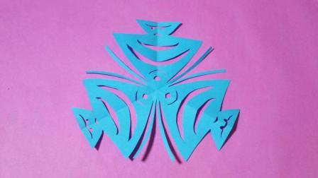 剪纸小课堂: 3只热带鱼, 儿童喜欢的手工DIY, 动手又动脑