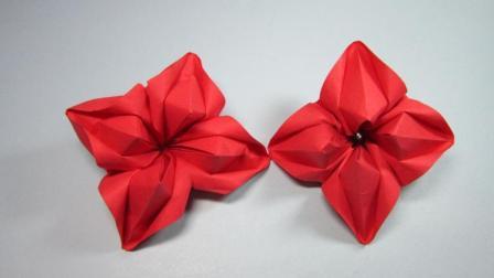 纸艺手工花朵的折法, 简单的折纸花, DIY手工制作