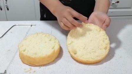 四种抹面制作(五): 同样的方法切割第二个蛋糕胚