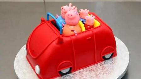《小猪佩奇》开小车郊游, 这是3岁宝宝最喜欢的生日蛋糕, 没有之一!