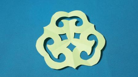 剪纸小课堂: 灵芝团花, 儿童喜欢的手工DIY, 动手又动脑