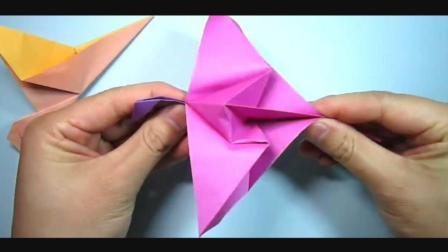 儿童趣味手工折纸: 2分钟学会怎么折会飞的小鸟!