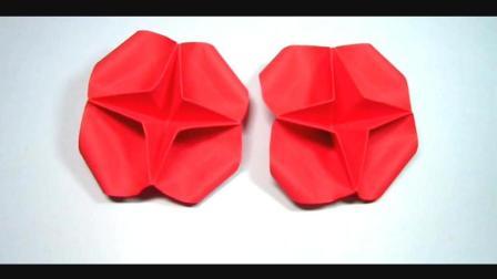儿童趣味手工折纸: 2分钟学会怎么折可爱的小花