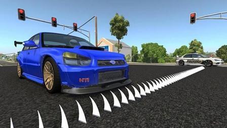 汽车以200km/h高速通过钉刺带会怎样? 能活命的可能只有它了!