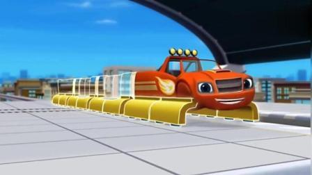 旋风战车队: 飚速变身成悬浮列车, 追捕偷东西的贼!