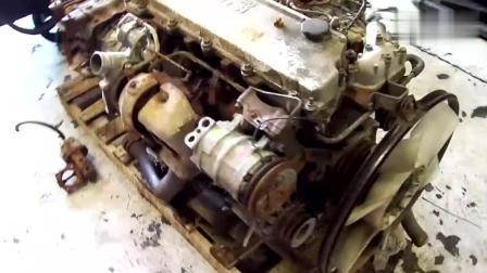 1998年的五十铃汽车发动机, 175马力正常运气, 听听启动后的声音
