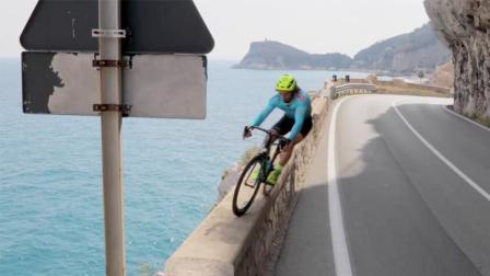 自行车大师神技人车合一 公路车玩山地速降攀爬