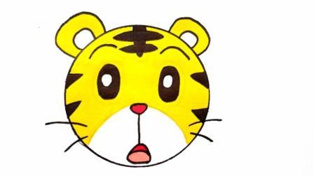 宝宝爱画画第176课 如何画巧虎简笔画步骤, 巧虎卡通人物绘画步骤, 巧虎怎么画图片大全
