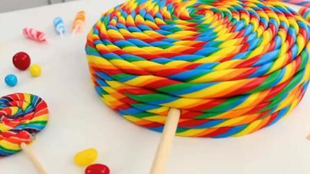 这彩虹棒棒糖蛋糕做的贼漂亮
