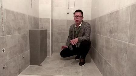 卫生间装修, 地面双找坡排水速度快又不会返臭, 真聪明