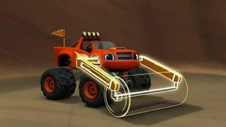 旋风战车队: 飚速变身压路机, 压扁超级大的乳酪球