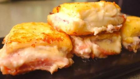 两片面包, 三片火腿, 教你做会爆浆的一口火腿西多士