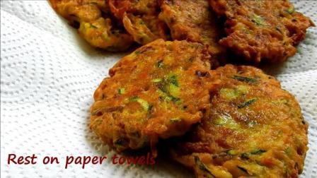 美食: 如何使西葫芦胡萝卜油煎饼