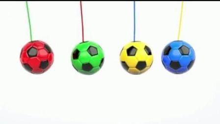 颜色启蒙: 小足球掉进足球蛋, 变出各种颜色, 学习英语认识颜色