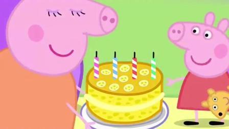 猪小妹: 猪爸爸竟给佩奇变出了生日蛋糕!